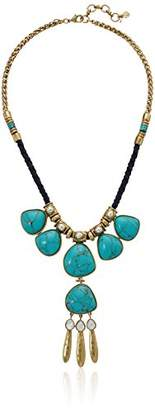 Lucky Brand Womens Turquoise Statement Necklace