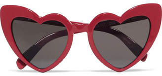 1457eb3fc6 Saint Laurent Loulou Heart-shaped Acetate Sunglasses - Red