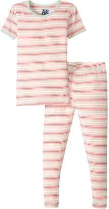 Kickee Pants Girls' Print Short Sleeve Pajama Set Prd-kppj108-Gdest
