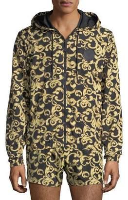 Versace Barocco Net Zip-Front Jacket