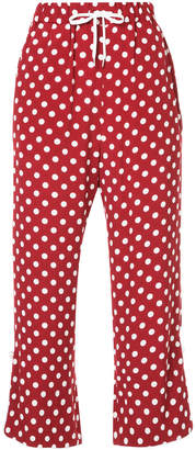 G.V.G.V. polka dot drawstring cropped trousers