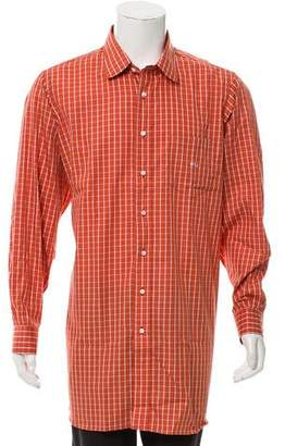 Burberry Plaid Button-Up Shirt w/ Tags