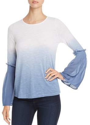 Design History Dip-Dye Bell-Sleeve Top