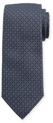 Eton Woven Dotted Fancy Box Silk Tie, Blue $145 thestylecure.com