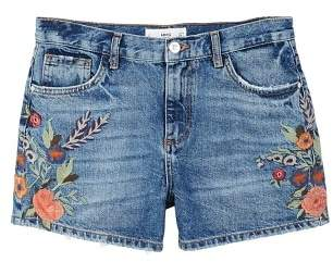 MANGO Floral embroidered shorts