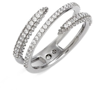 Women's Nadri Kate Pave Coil Ring $68 thestylecure.com