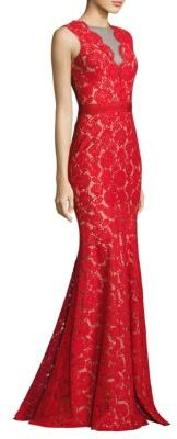 Theia Floral Lace Mermaid Gown $750 thestylecure.com
