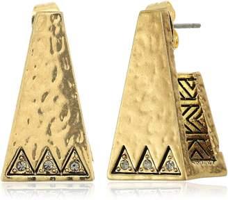 House Of Harlow en Scutum Trapezoid Earrings
