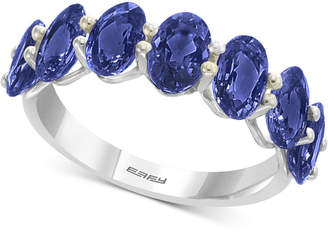 Effy Sapphire Band in (4 ct. t.w.) in 14k White Gold