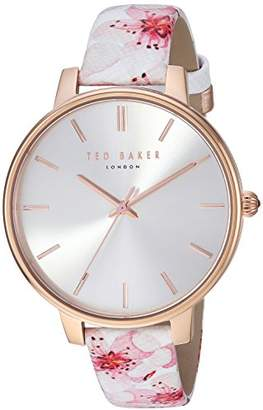 Ted Baker Women's 'KATE' Quartz Stainless Steel and Leather Casual WatchMulti Color (Model: TE50272002)