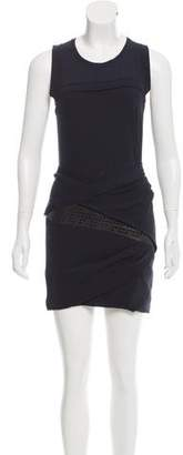 IRO Sleeveless Leather-Trimmed Dress w/ Tags