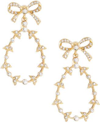 Kenneth Jay Lane Crystal Bow Drop Earrings