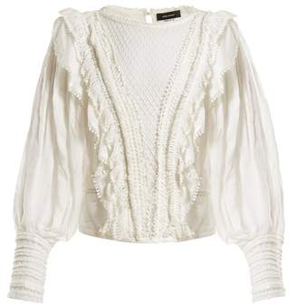 Isabel Marant Rosen Lace Trimmed Blouse - Womens - White