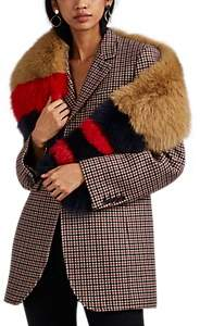 Barneys New York Women's Fox Fur Scarf - Camel