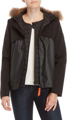 Gertrude + Gaston Adelaide Real Fur Trim Hooded Jacket