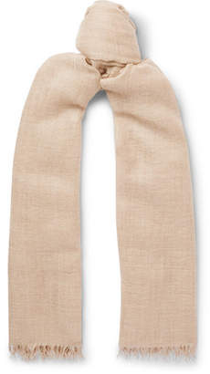 Co Begg & Staffa Fringed Cashmere And Silk-Blend Scarf