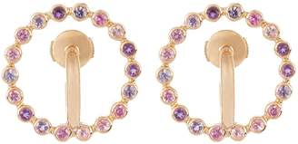 Charlotte Chesnais FINE JEWELLERY Saturn small sapphire, amethyst & gold earrings
