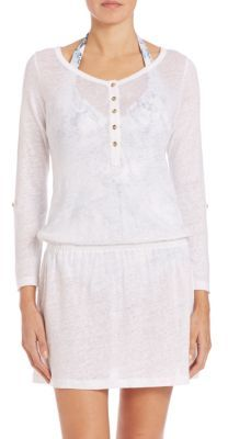 HEIDI KLEIN Slub Jersey Drop-Waist Dress $210 thestylecure.com