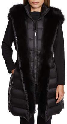 Dawn Levy Traveler Fox-Fur Trim Vest