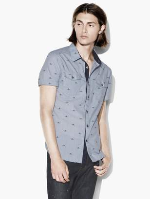 John Varvatos Flying Skulls Shirt