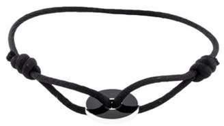 Dinh Van Onyx Pi Cord Bracelet silver Onyx Pi Cord Bracelet