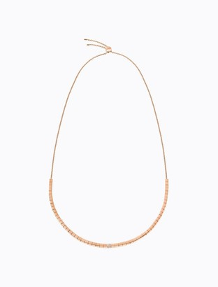 Calvin Klein tune rose gold crystal necklace