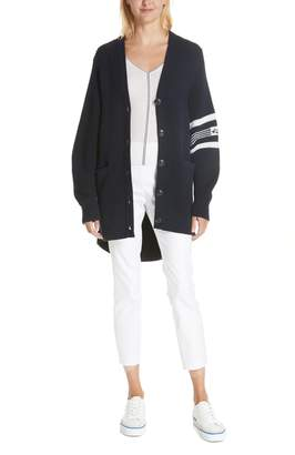 Rag & Bone Lavinia Stripe Seam Merino Wool Sweater