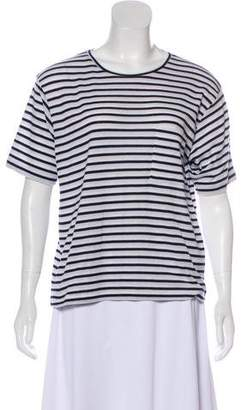 Anine Bing Striped Short Sleeve Top