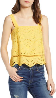 7 For All Mankind Eyelet Tank