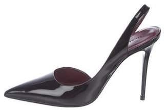 Celine Patent Leather Slingback Pumps