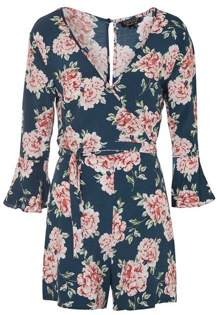 Topshop Topshop Rose wrap playsuit