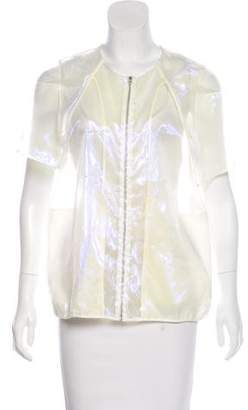 Hache Iridescent Short Sleeve Jacket