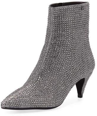 MICHAEL Michael Kors Blaine Flex Glitter-Mesh Kitten-Heel Booties