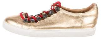 Toga Pulla Metallic Lace-Up Sneakers