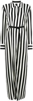 Norma Kamali long striped dress