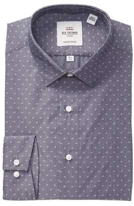 Ben Sherman Dot Print Tailored Slim Fit Dress Shirt