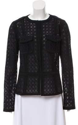 Andrew Gn Crochet Long Sleeve Jacket