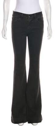 J Brand Mid-Rise Flared-Leg Jeans