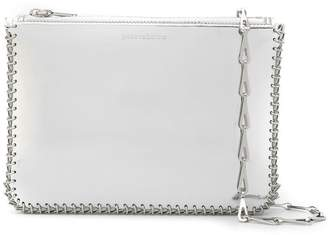 Paco Rabanne metallic clutch bag