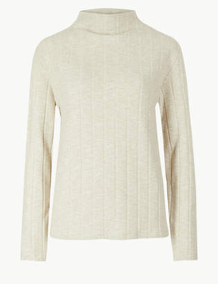 Marks and Spencer Cosy Textured Funnel Neck Top