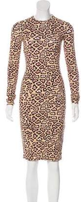 Givenchy Jersey Leopard Print Dress