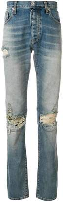 Unravel Project distressed long jeans