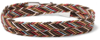 Paul Smith Woven Cotton Wrap Bracelet - Men - Brown