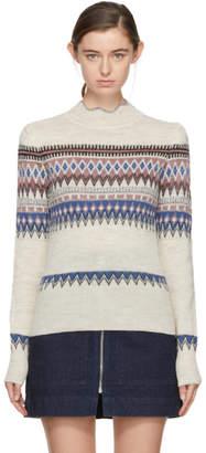Etoile Isabel Marant Off-White Jacquard Blake Sweater