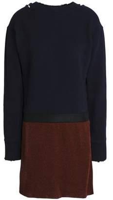 J.W.Anderson Metallic Color-Block French Cotton-Terry Mini Dress