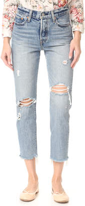 Levi's Wedgie Selvedge Straight Jeans $158 thestylecure.com