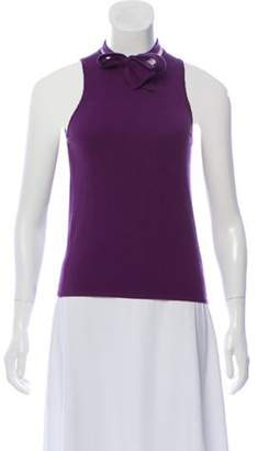 Andrew Gn Sleeveless Cashmere Top Purple Sleeveless Cashmere Top