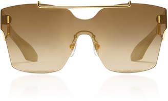 Philippe Chevallier Mask Rimless Sunglasses