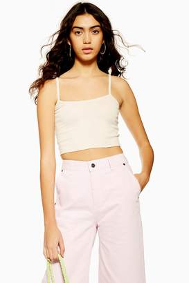 Topshop Womens Scallop Camisole Top - Nude