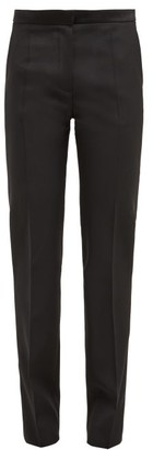 Pallas X Claire Thomson Jonville X Claire Thomson-jonville - Don Juan Mid Rise Wool Twill Trousers - Womens - Black